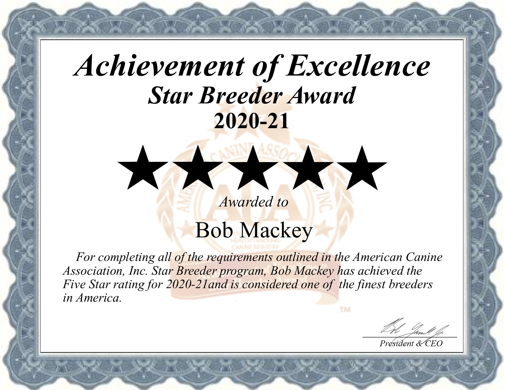 bob, mackey, dog, breeder, certificate, bob-mackey, sayer, dog-breeder, puppies, pups, ok, oklahoma, usda, 73-B-1857, no, show,  kennel, professional, county, pure bred, purebred, five, 5, puppy, breeders, star breeder, 5 star, puppy, puppies, ACA, ICA, 73B1857